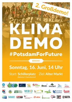 Klimademo Potsdam for future 16. Juni